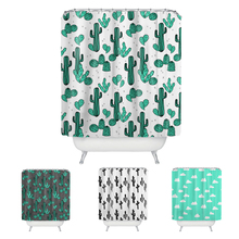 180*180 Waterproof Shower Curtain with Cactus plant Polyester Fabric Bath Curtain High Quality Bathroom Curtains Home Decoration