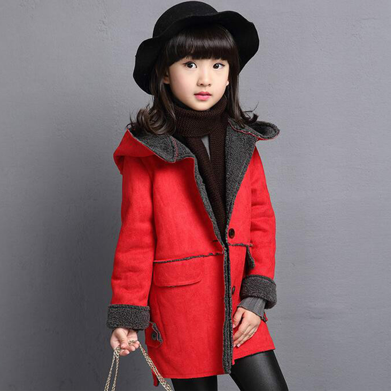 Girl on girl hooded jacket coat to keep warm jacket faux suede leisure long coat to wear in the fall and winter of bad girl<br><br>Aliexpress