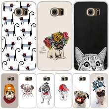 Cute Puppy Pug Bunny Cat Princess Meow Bulldog cell phone case cover for Samsung Galaxy S7 edge PLUS S8 S6 S5 S4 S3 MINI