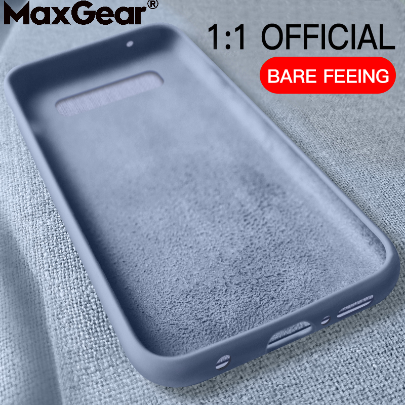 Original Soft Summer Liquid Silicone Case For SamSung Galaxy S8 S9 S10 Plus S10E M10 M20 Note 8 9 Back Cover S7 Edge M30 A60 A70(China)
