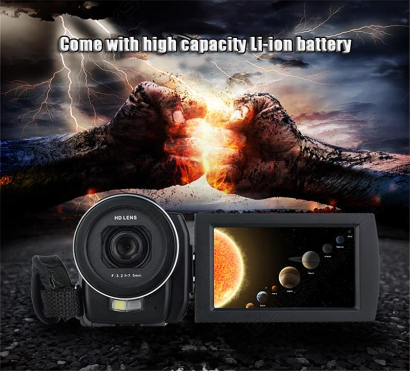 "ORDRO HDV-F5 1080P Digital Video Camera Max 24MP 16X Anti-shake 3.0"" Touch Screen LCD Camcorder DV With Remote Controller 7"