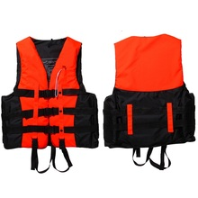 New (S-XXXL) Sizes Polyester Adult Life Jacket Universal Swimming Boating Ski Drifting Foam Vest with Whistle Prevention KSKS(China)