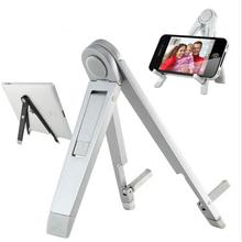 Phone Stand Unique Aluminum Alloy holder stand For iphone iPad Samsung note Tablet Xiaomi soporte portatil mesa Mobile holder(China)