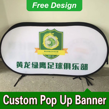 Free Design Free Shipping Vertical Top Banner Frame Pop Up Signs Outdoor Banner Frames(China)