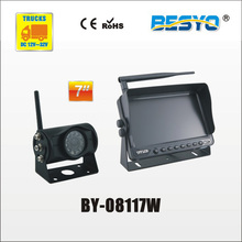 Heavy vehicle (trucks ,bus ,vans) reversing rearview wireless monitor with camera system BY-08117W(China)
