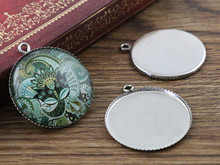 ( No Fade ) 10pcs 25mm Inner Size Stainless Steel Material Simple Style Cabochon Base Cameo Setting Charms Pendant Tray (N3-49)