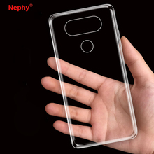 Nephy Flexible UltraThin Clear Coque For LG G3 G4 G5 G6 K10 V10 V20 Case Soft TPU Back Cover Shell Brand phone Casing housing(China)