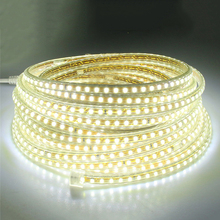 220V led tape light SMD2835 120led/M White/Warm white led strip light with EU power plug