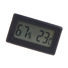 Digital LCD Thermometer Hygrometer Humidity Temperature Meter Indoor Temperature Instrument Practical weather station tester(China)