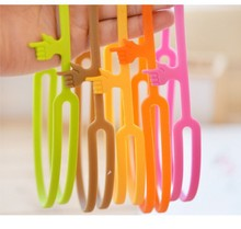 6 pcs/lot Silicone Finger Bookmarks Handy Bookmarks for Book Stationary Office School Supplies Papelaria marcador de livro HO026(China)