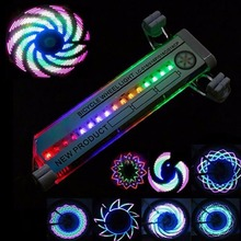 New Arrival Colorful Bicycle Lights Bike Cycling Wheel Spoke Light 32 LED 32-pattern Waterproof free shipping
