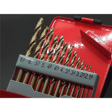 13pcs Set 1.5-6.5MM Cobalt HSS M35 Twist Drill Hole Stainless Steel Tool Set The Whole Ground Metal Reamer Tools Iron Box
