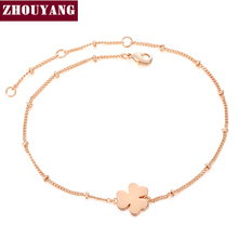 Clover Charming Bracelet Rose Gold Color Jewelry Party Wedding Gift For Women Wholesale Top Quality H142(China)