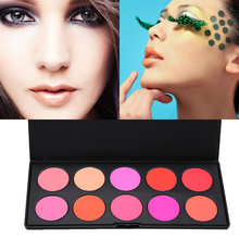 Profession 10 Colors Matte Black Makeup Blush Blusher Powder Blush Palette Case Face Rouge Women Beauty Face Cosmetics For Daily(China)