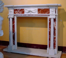 marble fireplace mantel English style carved stone fireplace frame(China)