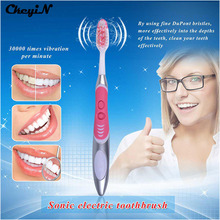 CkeyiN Ultrasonic Sonic Vibration Electric Toothbrush Waterproof Battery Operated Tooth Brushes+2Pc Replacement Head Teeth Brush
