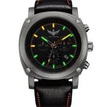 YELANG V3.2 self luminous men sapphire mirror corium leather strap sport outdoor diving waterproof titanium alloy quartz watch