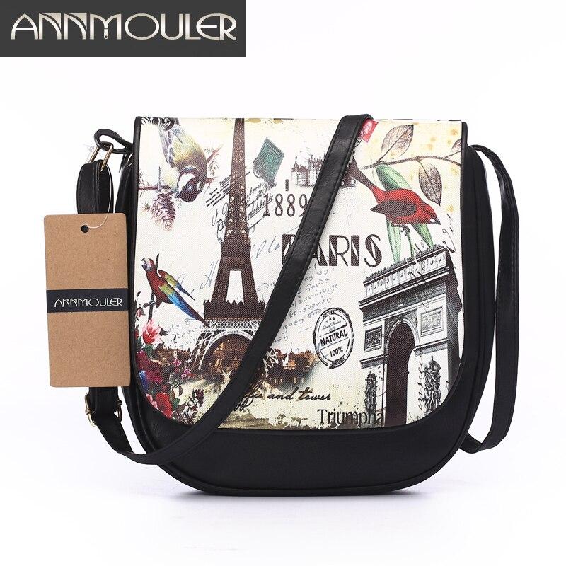Annmouler Famous Brand Women Small Bag Black Pu Leather Shoulder Messenger Bag Adjustable Strap Crossbody Bag Double Zipper Bag<br><br>Aliexpress