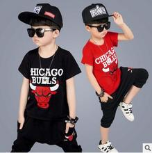 2017 summer style fashion basketball wear Baby boys brand 23 t-shirt & shorts boy sports clothes hiphop suits Kids clothing sets