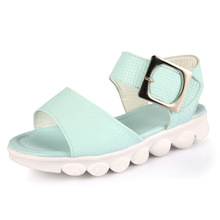 Buy 2017 Fashion Girls sandals Solid Summer Casual Leather Princess Shoes Little/Big Kids Soft Sole Flat Shoes Toddler Children Shoe for $8.89 in AliExpress store