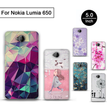 Original Case For Microsoft Nokia Lumia 650 Case TPU Gel Back Cover Soft Silicone 3D Bag For Lumia 650 Art Printed Phone Cases