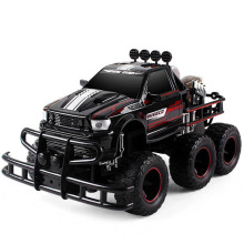 RC Cars Monster Pickup Trucks 6 Wheel Off Road Rock Crawler Racing Car Big Foot Buggy Model Electronic Toys For Children(China)