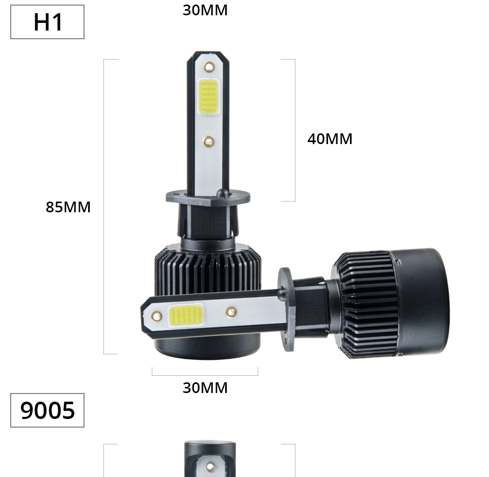 Aceersun H7 H4 LED Bulb Car Headllight H4 H1 H11 9005 72W mini cob chip 12V 24V Auto Headlamp Lamps 8000LM 6500K 4300K Fog Light (19)