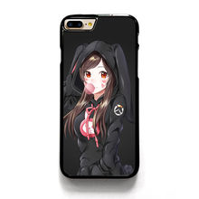 OVERWATCH D.VA BUNNY SMILLING GUM phone case cover for iphone 4 4s 5 5s 5c SE 6 6s & 6 plus 6s plus 7 7 plus #SC298