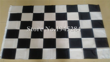Black & White Checker Flag Race Racing nascar Flag Banner New 3x5ft 150X90cm 100D Polyester Flag, free shipping(China)