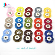 20 Colors Round Invisible Imitation Leather Snap Button for Coat/Sweater/Down Jacket/woolen Garment Accessory Snap Button S0160H