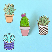 Small adorn article brooch brooches lovely plant cactus pin badge cartoon fashion women's accessories