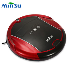 MinSu Smart Robotic Vacuum Cleaner Dry Wet Mopping Sweeping Voice Alarm Self-recharging Slim body Vacuum Cleaner Robot 2015A(China)