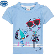 nova kids wear summer fashion style kids clothes girls t shirts printed applique baby girls clothes nova tshirts tees girls wear