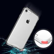 Anti knock Clear Protective Case For iphone 7 Case Coque Shockproof Hard back cover For iphone 7 plus case cover Fundas(China)