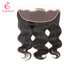 Supernova Brazilian Hair Lace Frontal Body Wave hair 13x4 With Baby Hair 100% Remy Human Hair Natural color Shipping Free