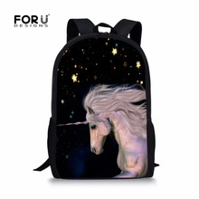 Buy FORUDESIGNS Mysterious Unicorn Schoolbag Boy Girl Primary School Backpack Fashion Notebook Bag Satchel Child Soft Strap for $21.99 in AliExpress store