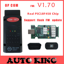 with PIC18F458 chip !!! Best quality ! v1.70 OBD2 Op-com / Op Com / Opcom/for opel scan tool support FLASH FW update Free ship