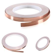 hot sale 40mm x 30M Single Conductive COPPER FOIL TAPE for Foil Strip Stained Glass Work, Laptop