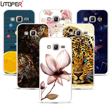 For Samsung J2 Prime Case silicone soft TPU cover lion flower case for Samsung J2 Prime SM-G532F G532F 5.0 telephone case j2(China)