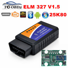 PIC18F25K80 Chip V1.5 Firmware Bluetooth ELM327 OBD OBDII Car Diagnostic Scanner Supports Multi-Cars ELM 327 1.5 Auto OBD Tool