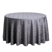 Polyester Solid Jacquard Table Cloth Round Home Dining Table Linen Rectangular Decor White Red Tablecloth For Wedding Hotel