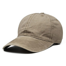 Washed Dyed Plain Dad Hat Panel Baseball Cap for Men Women,Khaki Navy Dark Grey,Adjustable Size Fits 56-60cm Head circumference(China)