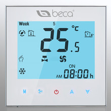 FACTORY SELL! BECA Two Pipe Fan Coil Controller Touch Screen Weekly Programmable Central Air Conditioning Room Thermostat(China)