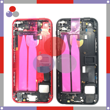 Highest quality For iphone 5 Like 7 Style 7mini 5S Like For iphone 7 Style Full Housing Cover Assembly with Flex Cable color Red