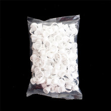 100Pcs New Arrival Disposable Glue Holder Ring Pallet for Eyelash Extension Tattoo Pigment Wholesale(China)