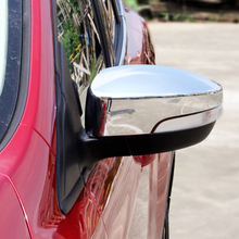 AX Car Styling Chrome Rear View Side Door Mirror Cover Trim Cap Molding Garnish Overlay For Ford Escape Kuga 2013 2014 2015 2016(China)