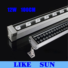 New 1M 12W LED Wall Washer Landscape light AC 85V-265V  outdoor lights wall linear lamp floodlight 30cm wallwasher