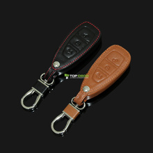 Leather Smart Protecting Case Cover Fob Holder For Ford Focus Kuga Ecosport Edge Mondeo Titanium Car Styling(China)
