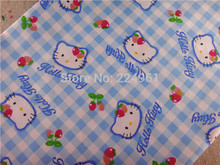 New arrival 150cm*150cm Hello Kitty 100% Cotton Fabric for Sewing Patchwork Bedding Fabric DIY Baby Cloth Textiles 15010328