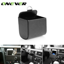 Onever Car Air Vent Organizer Phone Glasses Cash Card Storage Box Holder Hanging Box for Phone Coin Headphones Keys Small Gadget(China)